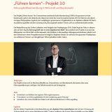 """Flyer zum Projekt """"Führen lernen 3.0"""""""