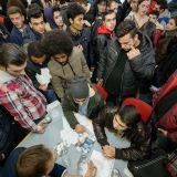 Junge Flüchtlinge informieren sich auf der vocatiumplus