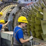 Industrie Gasturbine Beschäftigung