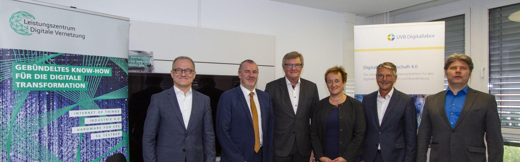 Unterzeichnung der Kooperationsvereinbarung zwischen UVB und Fraunhofer-Institut